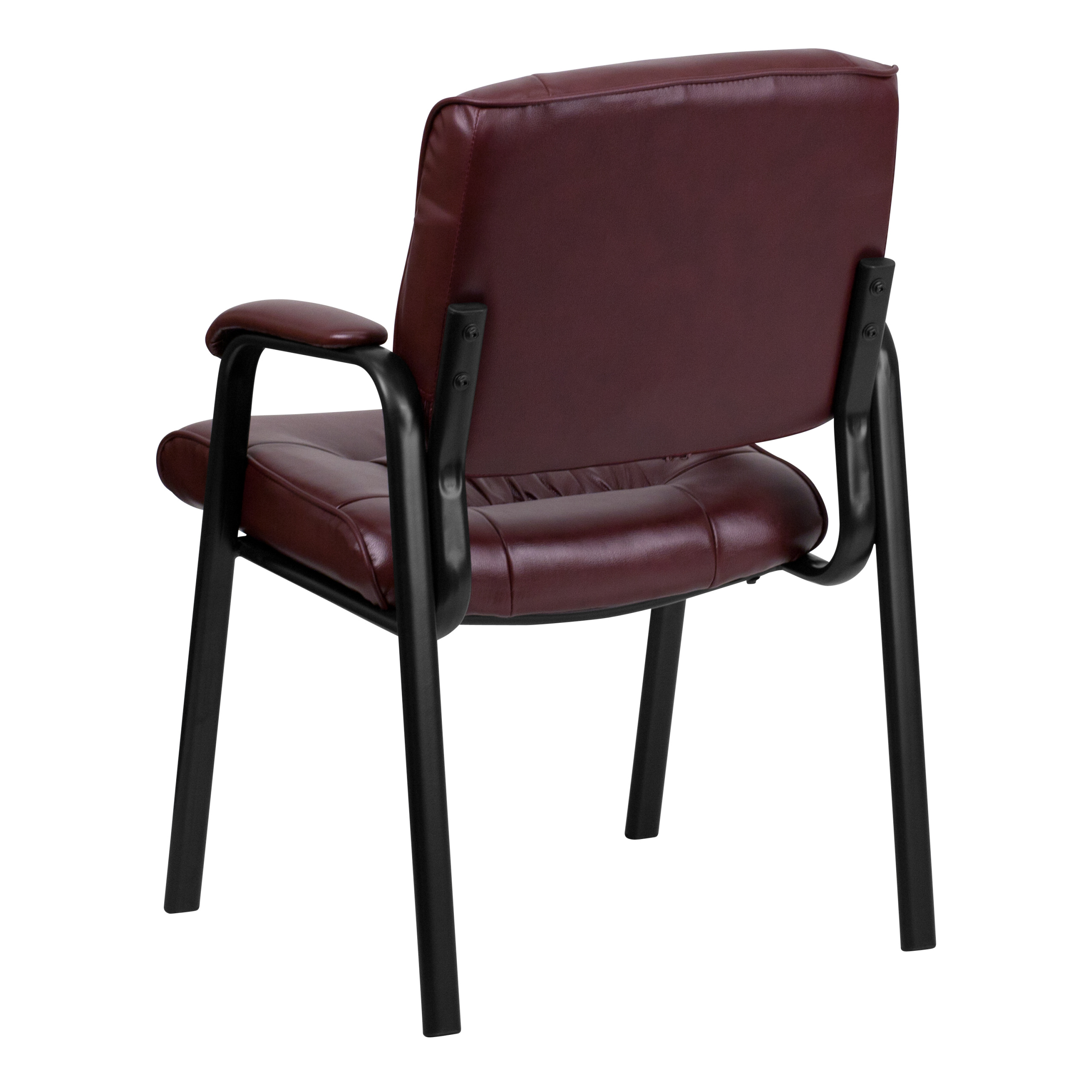 Burgundy Leather Office Guest Chairs