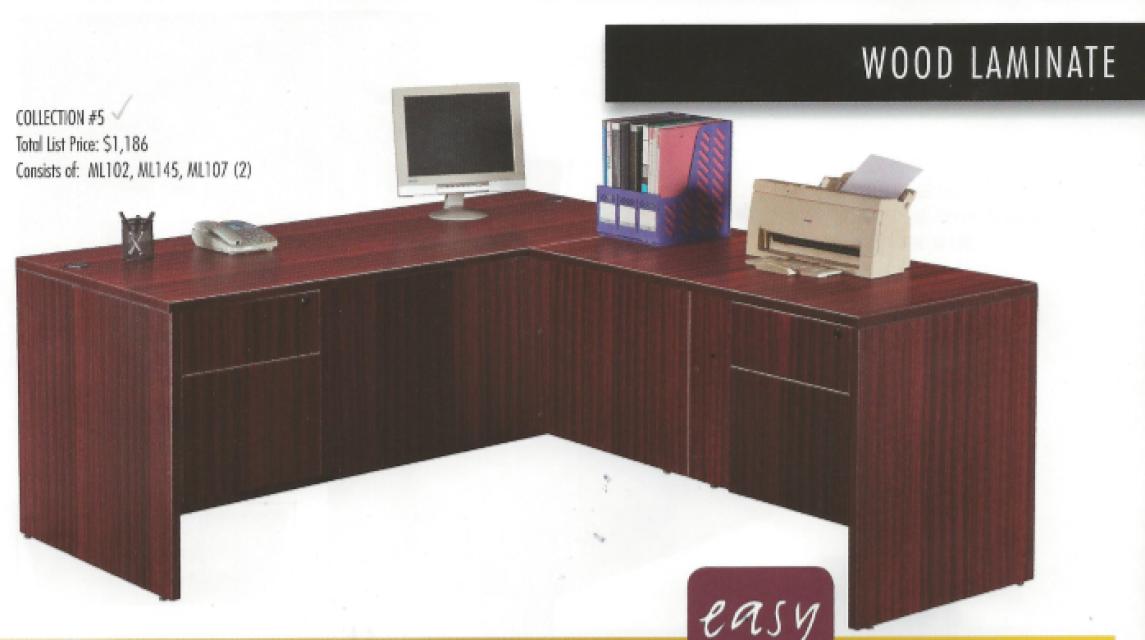 Good Simple L Shape Office Desk